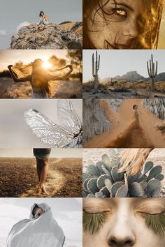 """desert fey aesthetic """"only spotted in the early hours after a rare rainfall, with skin the colour of the dust they lay in and eyes the gold of sunlight. elusive creatures who watch lonesome travellers and decide if they shall make safe passage across..."""