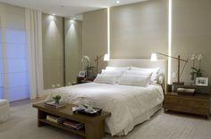 Quarto de Casal Zen - o quarto é nosso ambiente de descanso. As cores suaves são ótimas opções para inspirar tranquilidade e serenidade. Vem conferir!