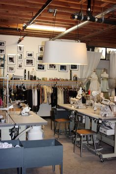 Studio..I'd love a studio like this.  Kind of reminds me of fashion design school