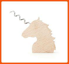 Kikkerland Corkscrew, Wooden Unicorn - Made of wood (*Amazon Partner-Link)