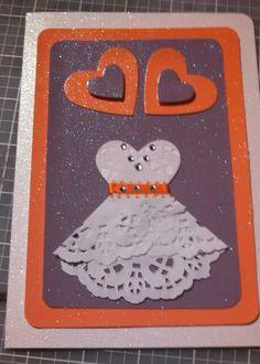 Purple/orange wedding card