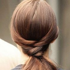 Braided Knot into a low ponytail