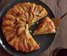 """Maple Apple Upside -Down Cake (recipe) - """"This is one of the best upside-down cakes ever—the maple syrup infuses both the apples and the cake, making the dessert taste like a stack of apple pancakes. Maple Syrup Recipes, Apple Recipes, Fall Recipes, Wine Recipes, Cooking Recipes, Thanksgiving Recipes, Korean Thanksgiving, Apple Desserts, Fall Desserts"""