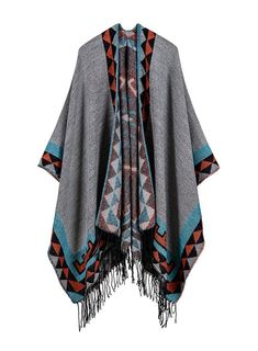 Amazing offer on Utini TieSet Luxury Brand 2018 Women Winter Scarf Warmer Shawl Geometric Rhombus Blanket Knit Wrap Cashmere Poncho Capes Pashmina 153 - (Color: online - Looknewshop Blanket Shawl, Wool Poncho, Shawl Cardigan, Plaid Blanket, Pashmina Shawl, Poncho Sweater, Long Cardigan, Rock Chic, Fashion Design Inspiration