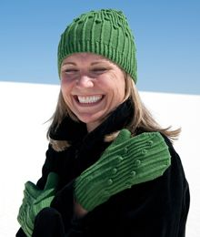 Swansea by Allison Haas. A playful hat and matching mittens are the ultimate defense against a dreary day. $6.00 US