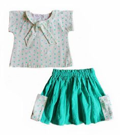 SIZES 12MO-12Y CONFIDENT BEGINNER The Jeune twin set is a sweet vintage inspired top and skirt with simple details. The Jeune top features a round...