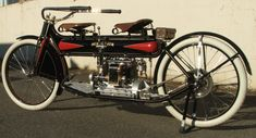 1912 Henderson tandem motorcycle
