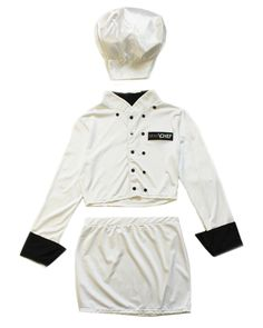A hot party slim fit sexy chef costume to spice up the kitchen.