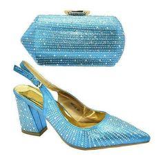 (1) African Wedding Italian Shoes and Bag Set Ladies' Shoes with Ankle Strap Heels, Shoes Heels, High Heels, Kitten Heel Boots, Pointed Toe Block Heel, Court Heels, Bridal Heels, Pump Types, Italian Shoes