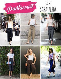Pantacourt com sapatilha Fashion 101, Womens Fashion, Fashion Trends, Cool Summer Palette, Street Style Summer, Preppy Style, Passion For Fashion, Casual Looks, Ideias Fashion
