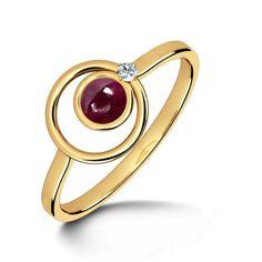 Elleptic Ruby Ring