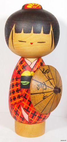 Japanese Sosaku Kokeshi Doll Dancing Girl of IZU Famous Character