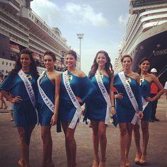 Candidatas en Visita Sociedad   Portuaria Regional Cartagena 2012.