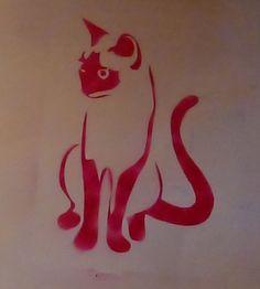 cat stencil 2 by luckydogblue on deviantART