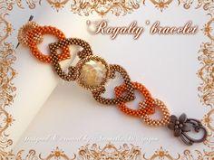'Royalty' bracelet - designed & created by Antonella Di Spigno (MeiBijoux 2014).  MeiBijoux fan page: https://www.facebook.com/244434058927046/photos/a.654831581220623.1073741835.244434058927046/673491736021274/?type=3&theater