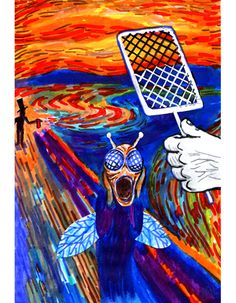 """'The Scream"""" Parody Edvard Munch, Le Cri Munch, Scream Parody, Grant Wood American Gothic, Photomontage, Pop Art, Funny Paintings, Popular Paintings, Expressionist Artists"""