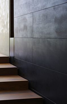 Concrete wall panels Designed by Maryann Thompson Architects Concrete texture Concrete Wall Panels, Metal Wall Panel, Metal Walls, Sheet Metal Wall, Panel Walls, Wood Walls, Interior Walls, Decor Interior Design, Interior Decorating