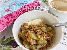 Pullantuoksuinen koti: Superherkullinen Raparperi-kaurapaistos. Superdelicious Rhubarb-oat crumble.