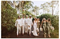 Beige Bridesmaids, Olive Green Bridesmaid Dresses, Wedding Bridesmaid Dresses, Bridesmaids And Groomsmen, Wedding Outfits, Bride Dresses, Olive Green Weddings, Olive Wedding, Sage Green Wedding
