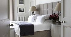 Whether it's the soft lighting, sumptuous overstuffed pillows or fluffy robes you never want to take over, everybody loves the indulgent moment of sinking into a hotel bedroom. So, it's no wonder many are looking to achieve a hotel-inspired bedroom of their own — one that makes it difficult to leave in the morning and calls you to bed at night. Handmade Bedroom Furniture, Hotel Inspired Bedroom, Design Your Own, Pillows, Night, Lighting, Home Decor, Gowns, Decoration Home