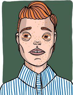Red head boy with freckles copyright Aliisa Ahtiainen (iPad Pro, Apple Pencil, Procreate) Red Head Boy, Ipad Pro, Freckles, Pencil, Apple, Drawings, Illustration, Art, Illustrations