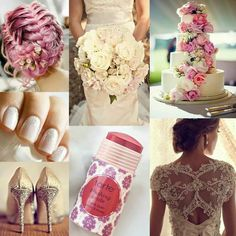 Love the nails but with light pink. ..gorgeous cake too