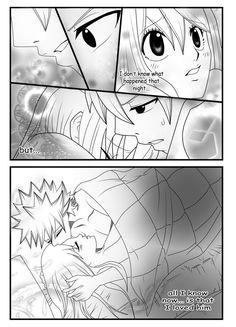 Here's page sorry that it took so long So in this page Mirajane shows up~ The NaLu supporter xD Thnx to her, Natsu changed his mind ^~^ Page [link. NaLu story part 3 (page