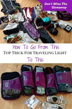Top travel trick for packing light. Plus a giveaway to get you started! How packing cubes are the tip that will change how you travel.: packing My Top Trick For Traveling Light & A Giveaway Packing Tips For Vacation, Cruise Vacation, Travel Packing, Travel Backpack, Travel Europe, Packing Tricks, Luggage Packing, Passport Travel, Cuba Travel