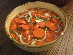 Paula Deen's Copper Pennies. Such a great recipe for carrots. And this does last a long time. A must try! Tried it, love it, make a lot! I give this an A!
