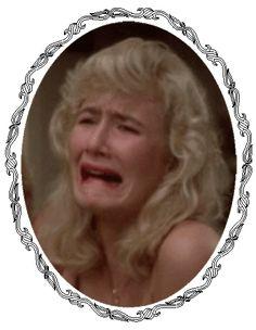 Laura Dern's crying face in Blue Velvet (gif)