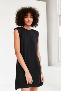 Silence + Noise Rolled Cuff Muscle Tee Dress - Urban Outfitters