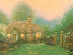 Evening at  Merritt's Cottage ~ Thomas Kinkade   i want to live there