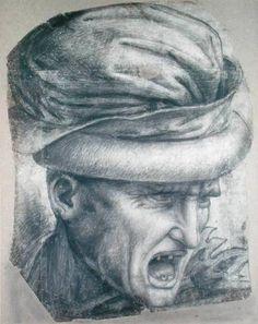 leonardo da vinci paintings   Head of a Warrior - Leonardo da Vinci as art print or hand painted oil ...