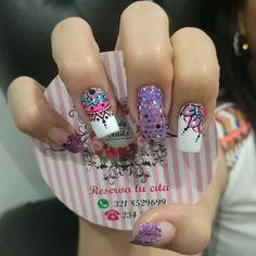 Creative Nail Designs, Creative Nails, Henna Style, Beauty Nails, Manicure, Nail Art, Candy, Lace Nails, Ongles