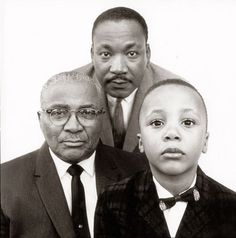Love this. Martin Luther King, Jr. with his father and son, Atlanta, GA, 1963, by Richard Avedon