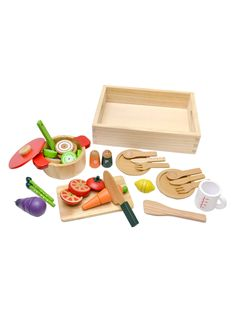 Stew Pot Toy Set from New to Gilt: Woody Puddy Play Food on Gilt