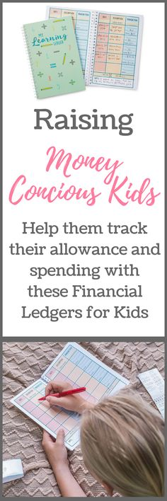 Are you teaching your kids to be financially responsible? Help the track how much they earn from chores and birthday gifts, as well as their spending.  These financial ledgers for kids makes it fun and easy to teach them to be money-conscious kids! #afflink #moneytips #chores #parenting #frugalkids