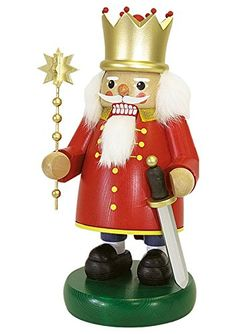 German nutcracker King red height 32 cm  13 inch original Erzgebirge by Richard Glaesser Seiffen *** This is an Amazon Affiliate link. Check out this great product.