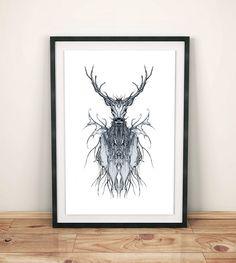 Deer  #Poster #print #great #christmas #abstraction #fineart #design #interiordesign #presents #WallArt