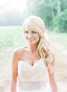 #hairstyles Photography: Corbin Gurkin Photography - corbingurkin.com Read More: http://www.stylemepretty.com/2014/09/22/emily-maynards-surprise-wedding-to-tyler-johnson/                                                                                                                                                     More