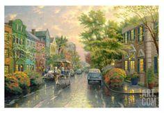 Charleston, Sunset on Rainbow Row Limited Edition by Thomas Kinkade at eu.art.com