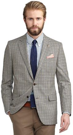 Fitzgerald Fit Two-Button Saxxon® Wool Checked Windowpane Sport Coat