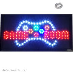"""Bright Game Room Arcade Video Games Man Cave LED Open Sign 19x10"""" Display neon #AhhhaProducts"""