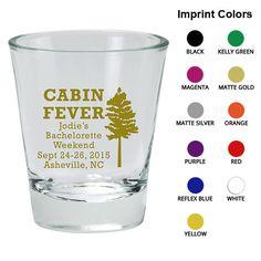 Bachelorette Shot Glass (Clipart 6058) Cabin Fever - Custom Bachelorette Favors - Bachelorette Party Shot Glasses