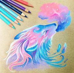 Fantasy Drawings, Art Drawings Sketches, Fantasy Art, Pencil Drawings, Creature Drawings, Animal Drawings, Kawaii Drawings, Colorful Drawings, Amazing Drawings