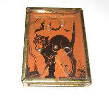 Vintage 1920's Halloween Black Cat Ring Game