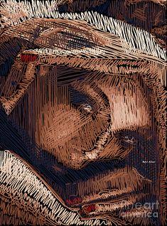 Studio Portrait In Pencil 59 Digital Art by Rafael Salazar