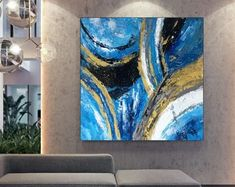 Apartment Decor Original Art Artwork Acrylic Painting | Etsy Oversized Wall Art, Bathroom Wall Art, Extra Large Wall Art, Large Painting, Modern Wall Art, Abstract Art, Original Art, The Originals, Canvas