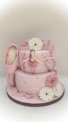 Little dancer - Cake by Samantha's Cake Design Ballet Cakes, Ballerina Cakes, Girly Cakes, Cute Cakes, Bolo Tumblr, Dancer Cake, Ballerina Birthday Parties, Love Cake, Fondant Cakes