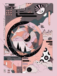 "via Muzli design inspiration. ""Weekly Inspiration for Designers is published by Muzli in Muzli - Design Inspiration. Illustration Design Graphique, Art Et Illustration, Graphic Design Posters, Graphic Design Inspiration, 3d Drawings, Aesthetic Art, Illustrations Posters, Artwork, Concept Art"